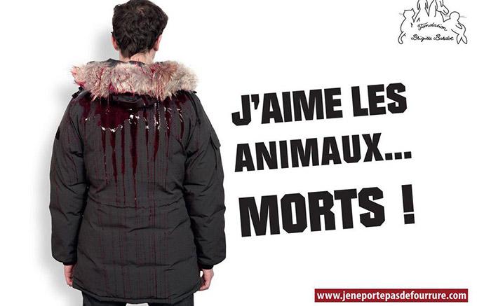 fondation brigitte bardot fourrure campagne communication fourrure animaux morts