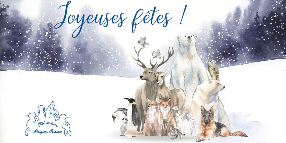 La Fondation Brigitte Bardot souhaite de joyeuses fêtes à tous les amis des animaux !