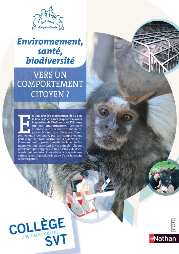 fondation brigitte bardot junior enfants animaux pedagogie protection animale editions nathan professeurs ecole college
