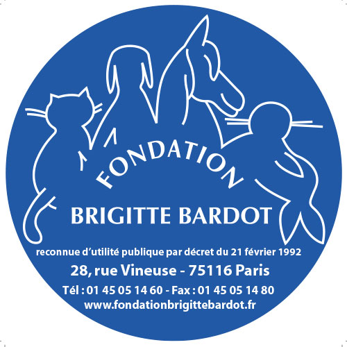 Fondation Brigitte Bardot Sticker bleu