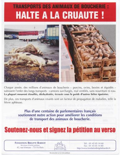 Fondation Brigitte Bardot petition
