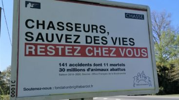 Campagne «Chasseurs, sauvez des vies, restez chez vous» : la Fédération Nationale des Chasseurs perd son procès contre la Fondation Brigitte Bardot !