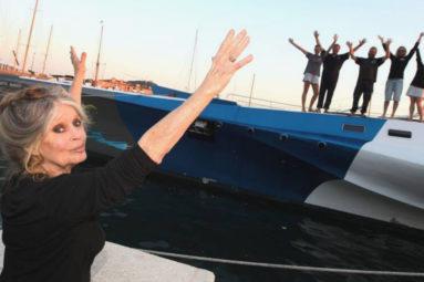 Le trimaran Brigitte Bardot quitte la flotte Sea Shepherd après 10 ans d'actions en mer…