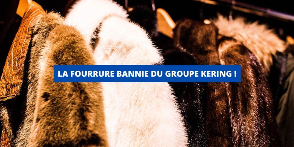 LA FOURRURE BANNIE DU GROUPE KERING (SAINT-LAURENT, GUCCI, BALENCIAGA, ALEXANDER MCQUEEN…)