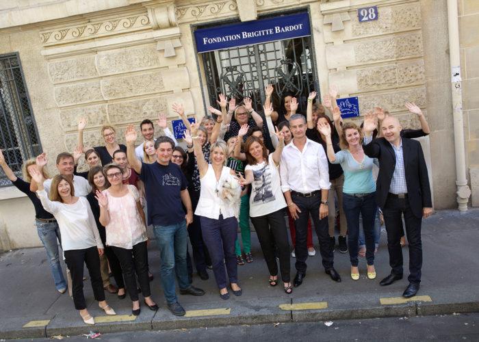 Equipe de la FBB à Paris